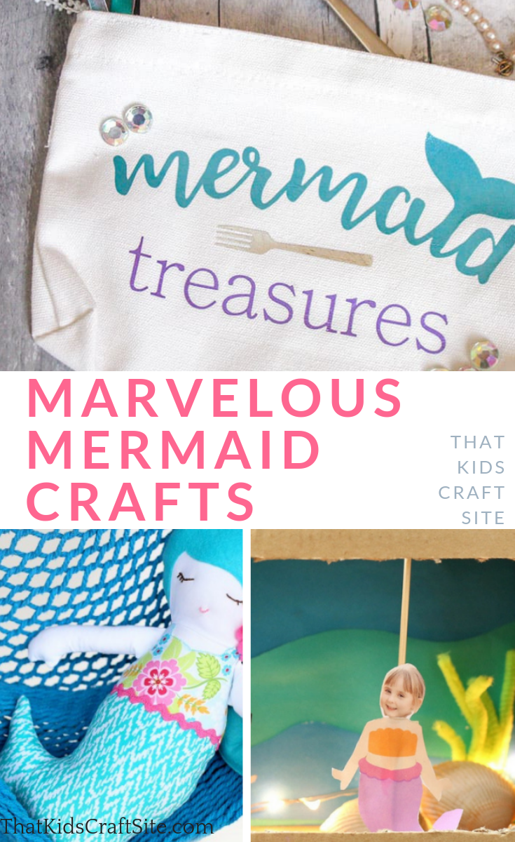 12 Marvelous DIY Mermaid Crafts for Kids - ThatKidsCraftSite.com