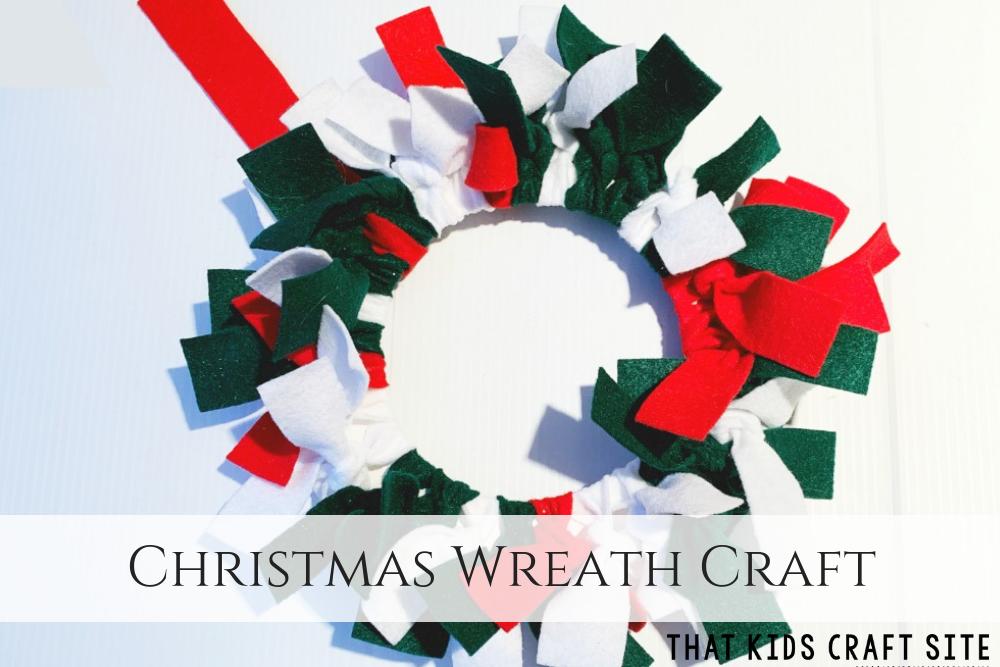 Christmas Wreath Craft for Kids - ThatKidsCraftSite.com