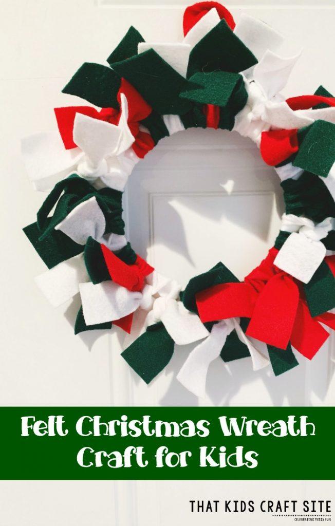 Felt Christmas Wreath Craft for Kids -ThatKidsCraftSite.com