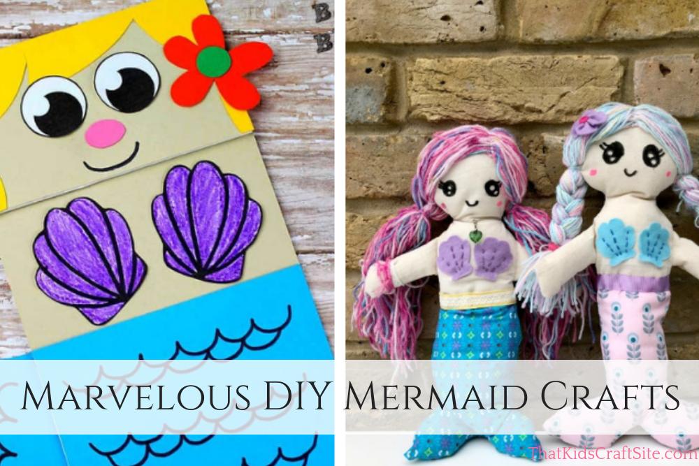 Marvelous DIY Mermaid Crafts for Kids - ThatKidsCraftSite.com