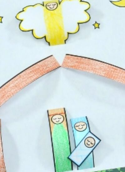 Printable Nativity Paper Craft for Kids