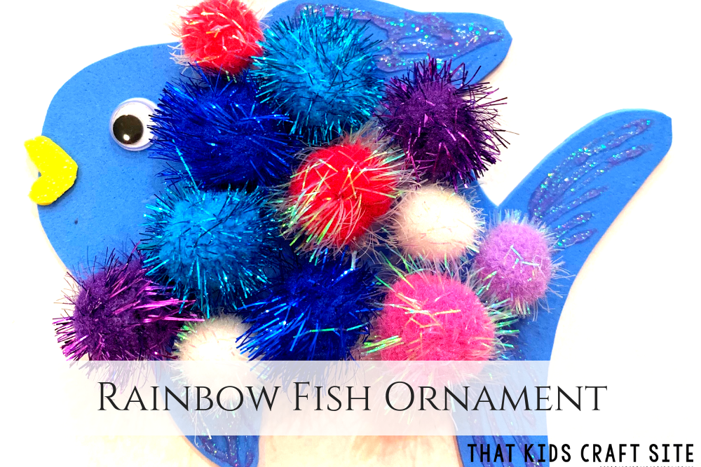 Rainbow Fish Ornament Craft for Kids - ThatKidsCraftSite.com