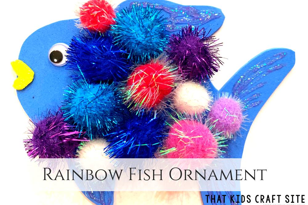Rainbow Fish Ornament Craft for Kids - ThatKidsCraftSite.com