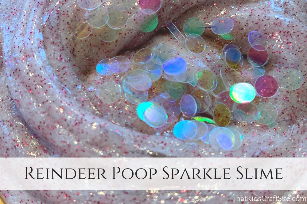 Reindeer Poop Sparkle Slime