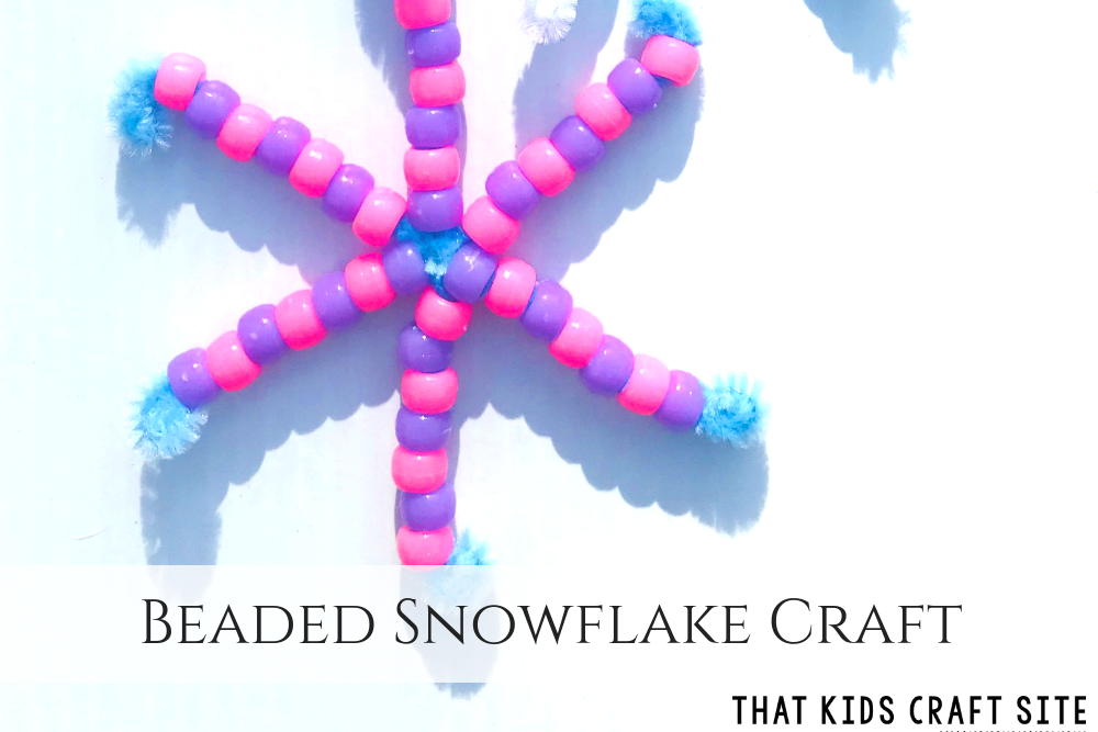 Beaded Snowflake Craft for Preschoolers - Crafts for Kids - ThatKidsCraftSite.com