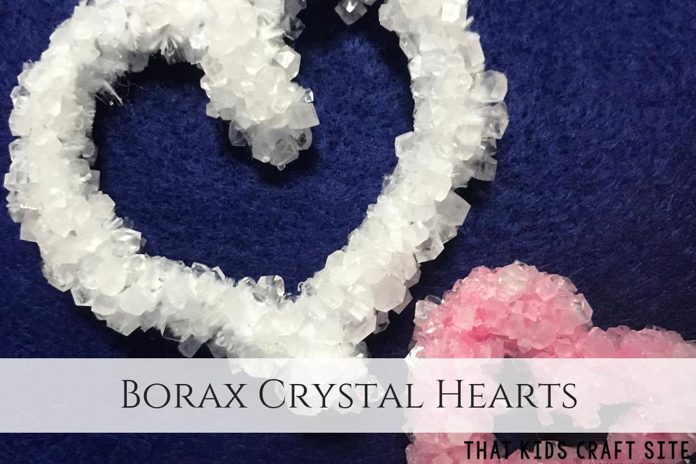 Borax Crystal Hearts Valentines Craft for Kids - ThatKidsCraftSite.com