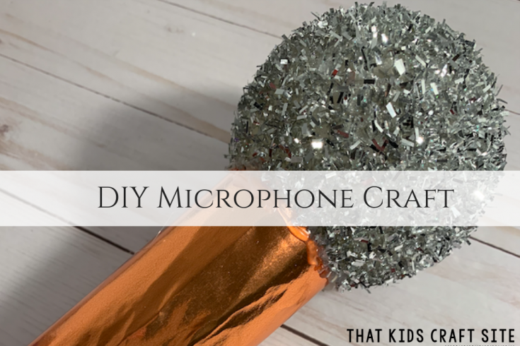 DIY Microphone Craft - Crafts for Kids - ThatKidsCraftSite.com