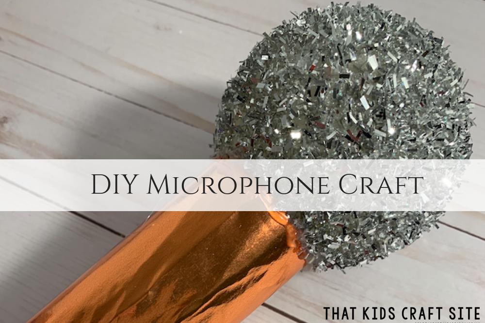 DIY Microphone Craft for Kids - a great preschool craft for dramatic play! ThatKidsCraftSite.com