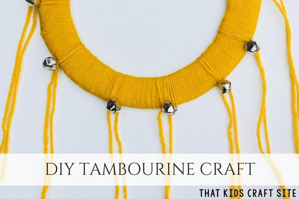 DIY Tambourine Craft for Kids - How to Make a Tambourine - ThatKidsCraftSite.com