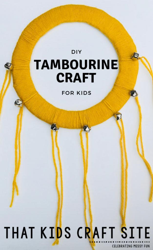 DIY Tambourine Kids Craft - How to Make a Tambourine - ThatKidsCraftSite.com
