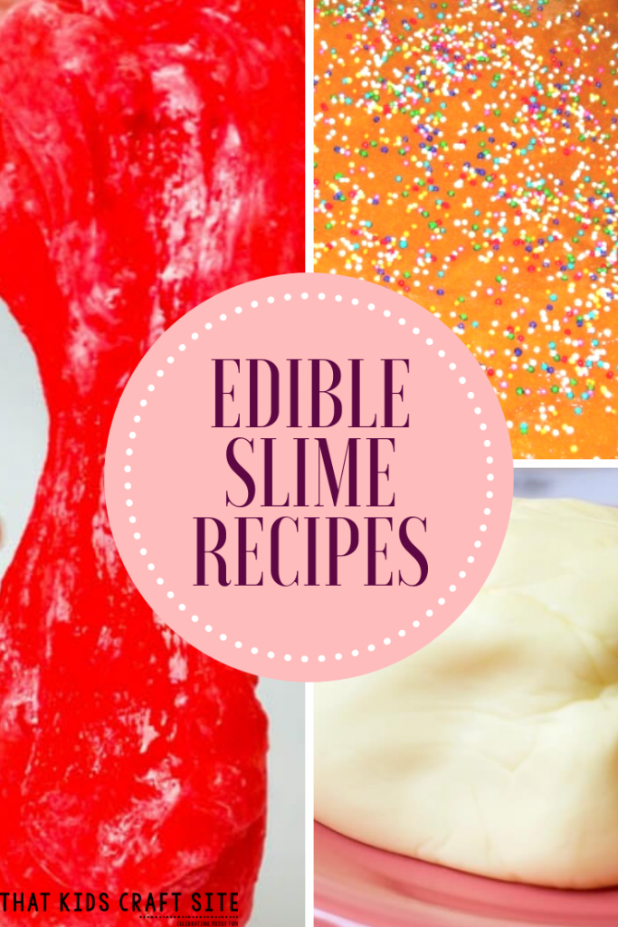 EDIBLE Slime Recipes - That Kids Craft Site