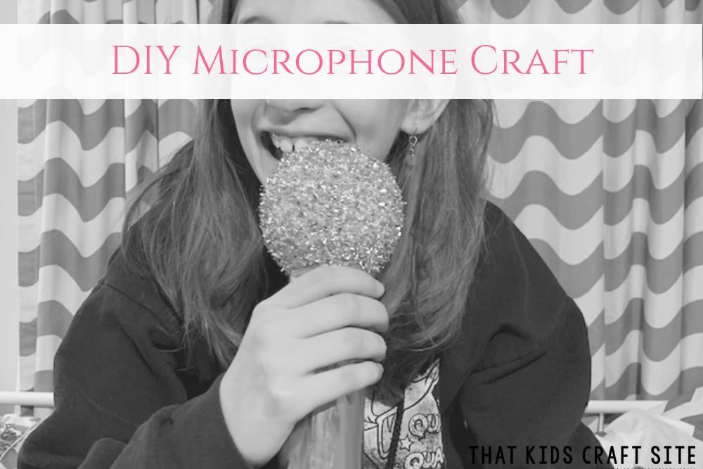 Easy Microphone Craft for Preschoolers - a Fun Craft for Kids - ThatKidsCraftSite.com