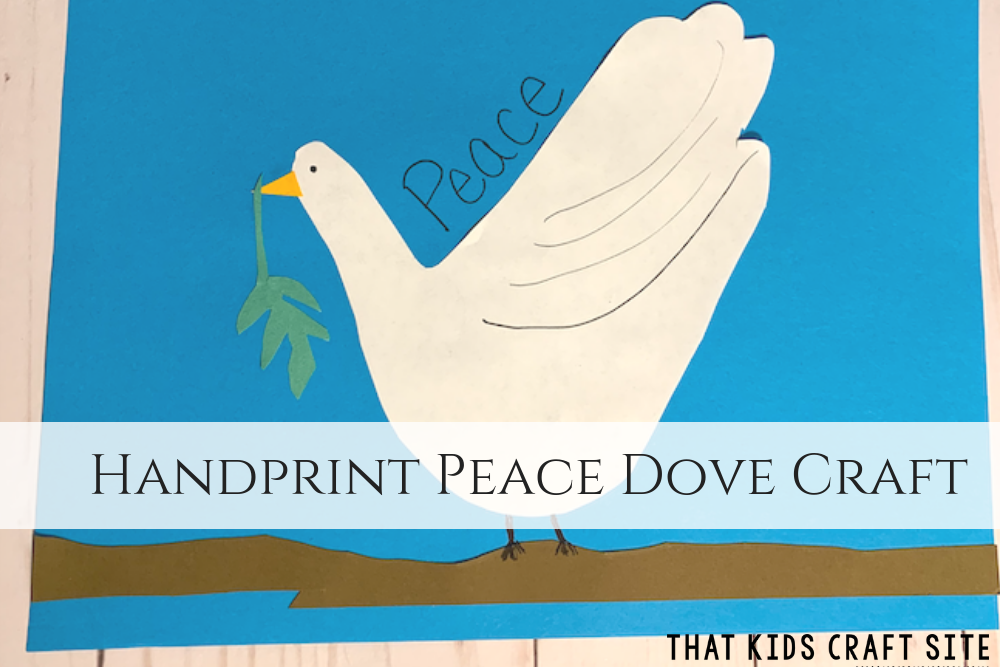 Handprint Peace Dove Preschool Craft - Crafts for Kids - ThatKidsCraftSite.com