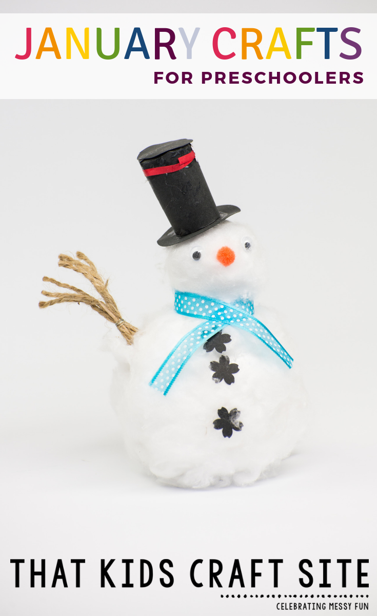January Crafts for Preschoolers - Fun Preschool Crafts for the Entire Year - ThatKidsCraftSite.com