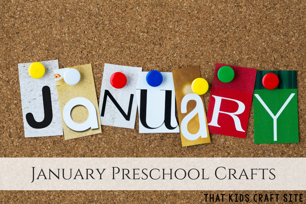 January Preschool Crafts for Kids - ThatKidsCraftSite.com