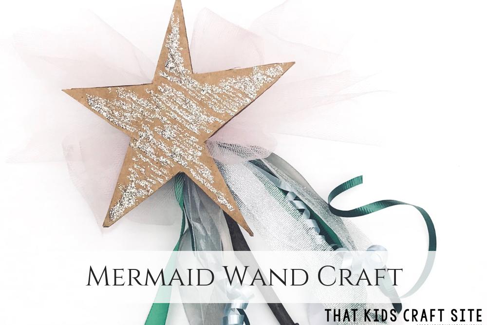 Mermaid Crafts: Under the Sea Mermaid Wand Craft for Kids - ThatKidsCraftSite.com
