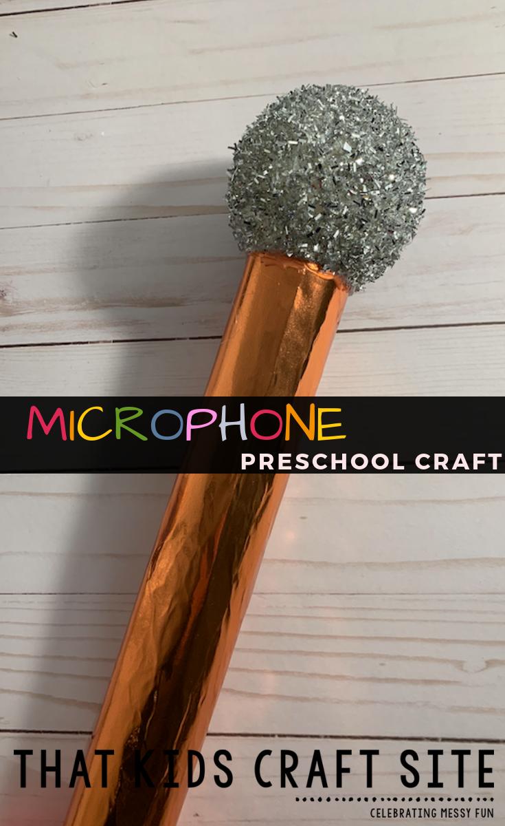 Microphone Craft for Preschoolers - a Handprint Craft for Kids - ThatKidsCraftSite.com
