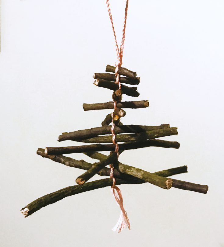 Natural Twig Ornament