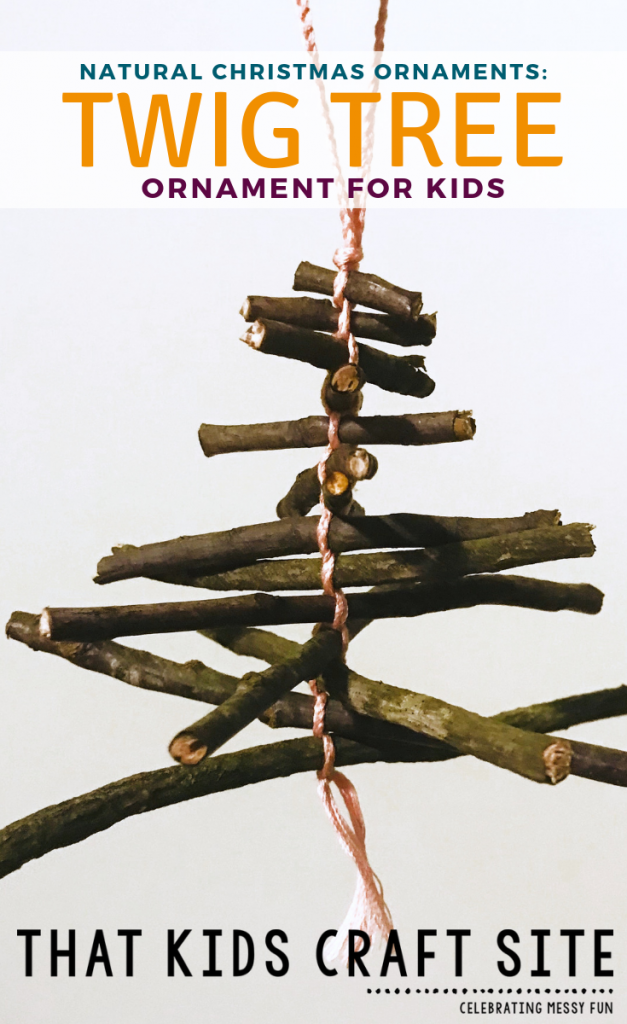 Natural Twig Tree Christmas Ornaments for Kids - ThatKidsCraftSite.com