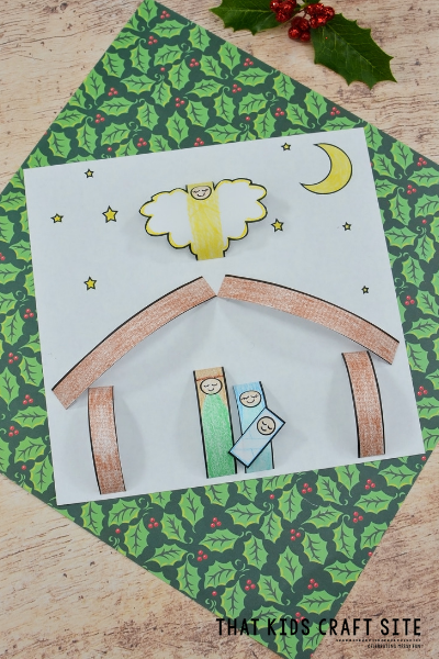 Paper Nativity Christmas Preschool Craft for Kids - ThatKidsCraftSite.com