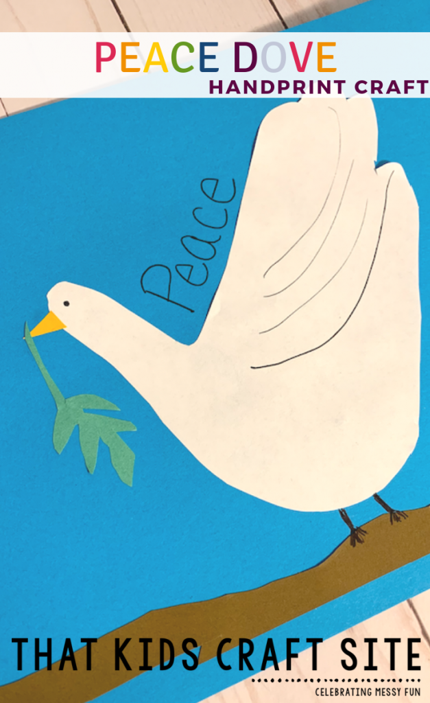 Peace Dove Handprint Craft for Preschoolers - a Handprint Craft for Kids - ThatKidsCraftSite.com