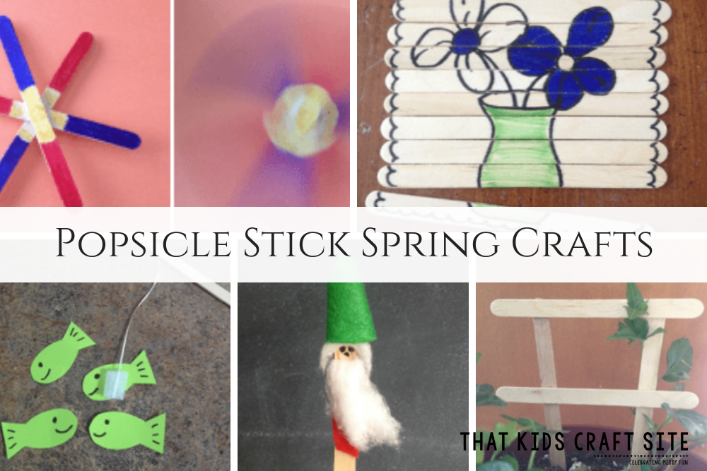 Spring Crafts for Kids Using Popsicle Sticks - ThatKidsCraftSite.com