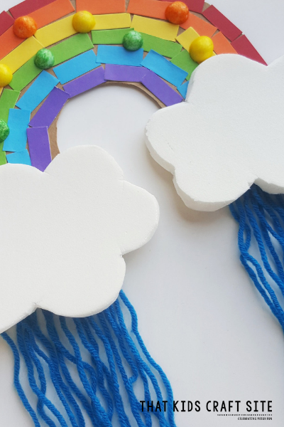 Preschool Rainbow Craft - Rainbow Cloud Craft for Kids - ThatKidsCraftSite.com