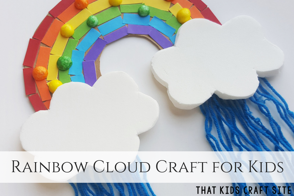 Rainbow Cloud Craft for Kids - ThatKidsCraftSite.com