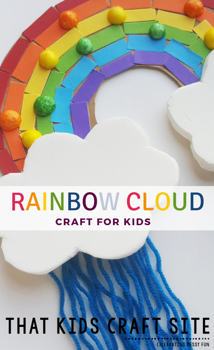 Rainbow Cloud Craft for Kids - a Rainbow Craft for Preschoolers - ThatKidsCraftSite.com