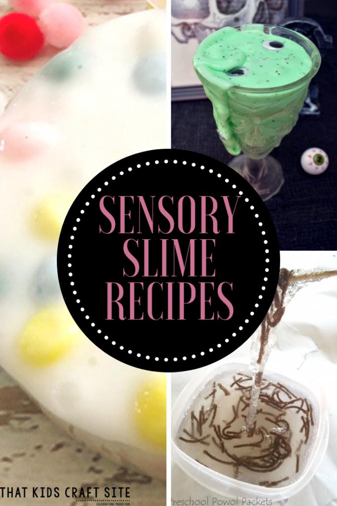 Sensory Slime Recipes - That Kids Craft Site