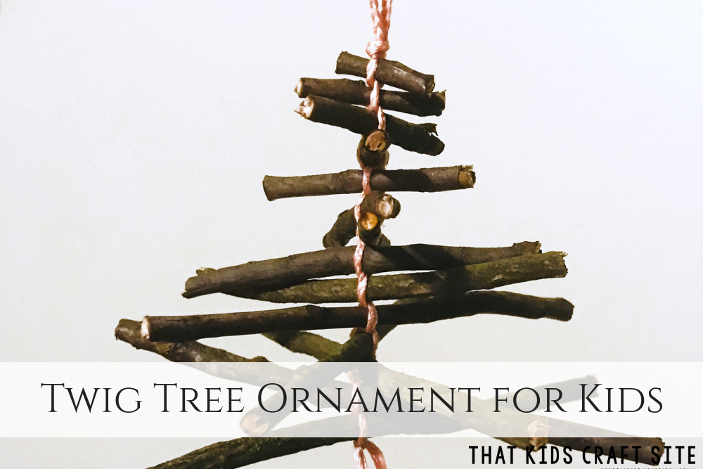 Twig Tree Natural Christmas Ornaments for Kids - ThatKidsCraftSite.com