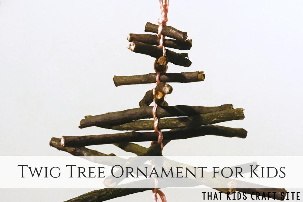 Twig Tree Natural Christmas Ornaments for Kids - ThatKidsCraftSite.com