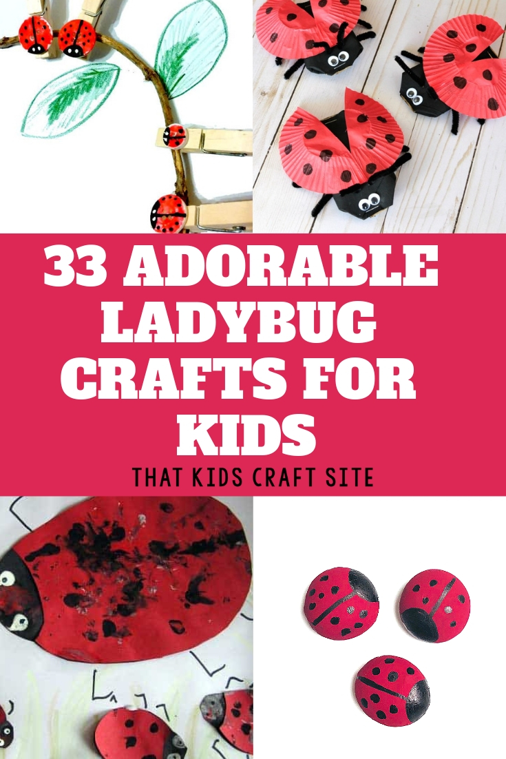 33 of the Cutest Ladybug Crafts for Kids - ThatKidsCraftSite.com