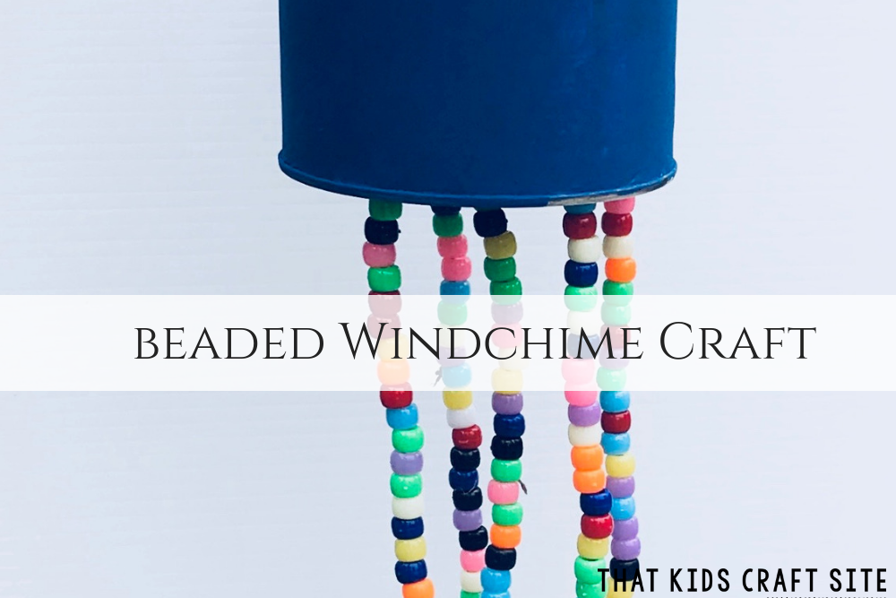 Beaded Windchime Craft - Crafts for Kids - ThatKidsCraftSite.com