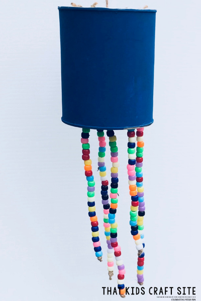 Beaded Windchime Craft for Kids - ThatKidsCraftSite.com