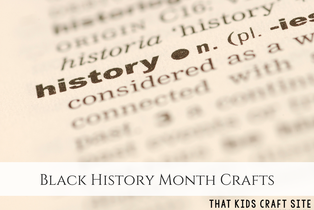 Black History Month Crafts for Preschoolers - ThatKidsCraftSite.com