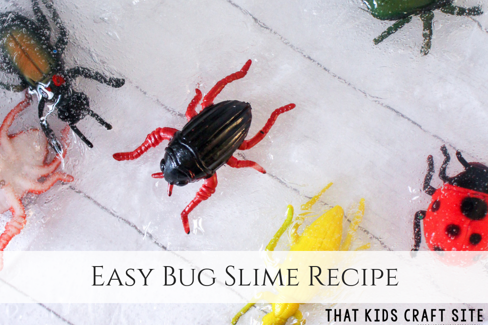 Clear Bug Slime - An Easy Slime Recipe - ThatKidsCraftSite.com