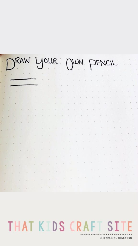Draw Your Own Pencil - Step 2 - ThatKidsCraftSite.com