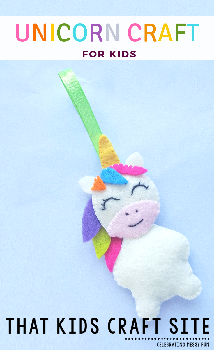 Easy Unicorn Craft for Kids - Felt Unicorn Ornament Craft for Tweens - ThatKidsCraftSite.com