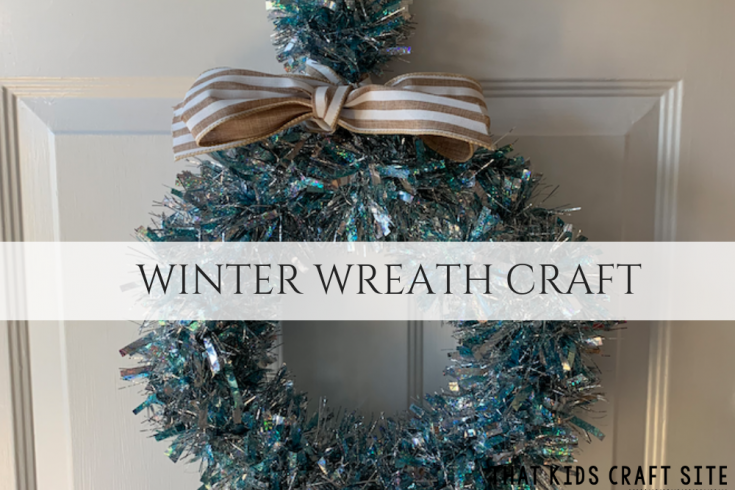 Easy Winter Wreath Craft for Tweens and Teens - Crafts for Kids - ThatKidsCraftSite.com