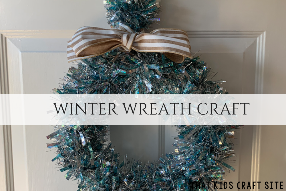 Easy Winter Wreath Craft for Tweens and Teens - Crafts for Kids - ThatKidsCraftSite.com