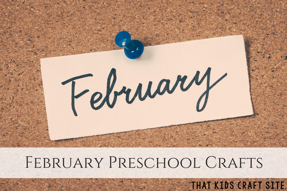 February Preschool Crafts - ThatKidsCraftSite.com