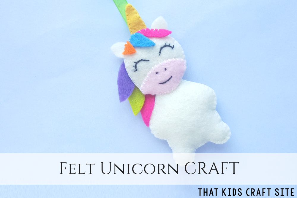 Felt Unicorn Craft for Kids - How to Make an Easy Felt Unicorn Ornament - ThatKidsCraftSite.com