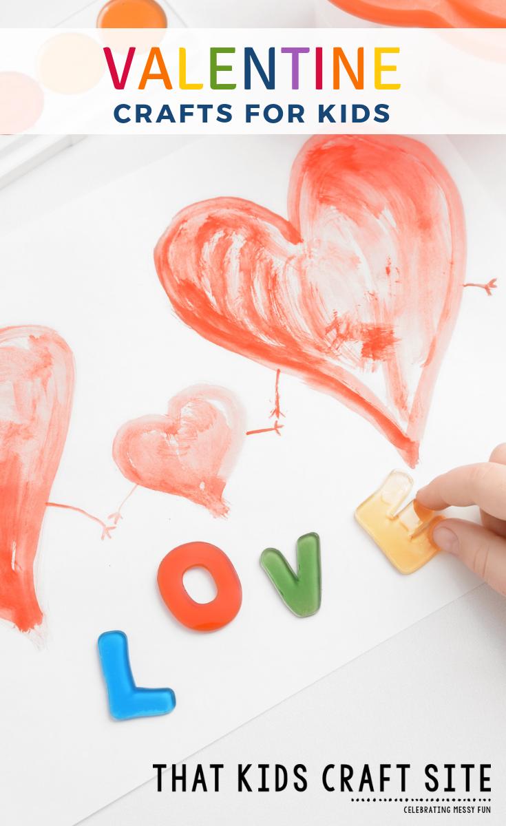 Fun Valentine's Day Crafts for Kids - Valentine Crafts for Kids from Preschoolers to Tweens - ThatKidsCraftSite.com