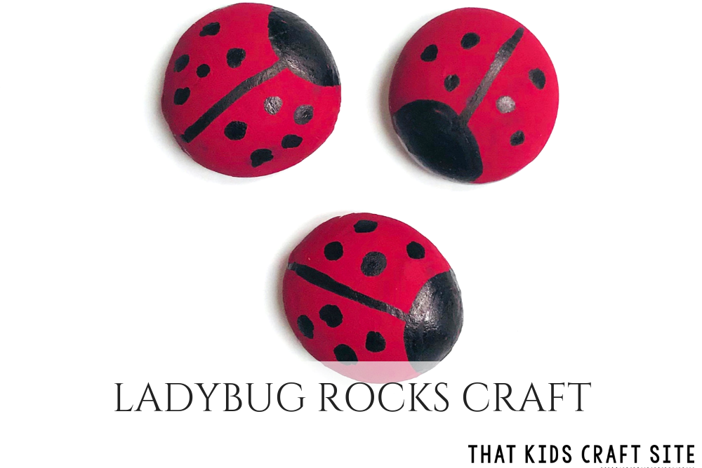 Ladybug Rocks Craft - a Fun Painting Craft for Kids - ThatKidsCraftSite.com