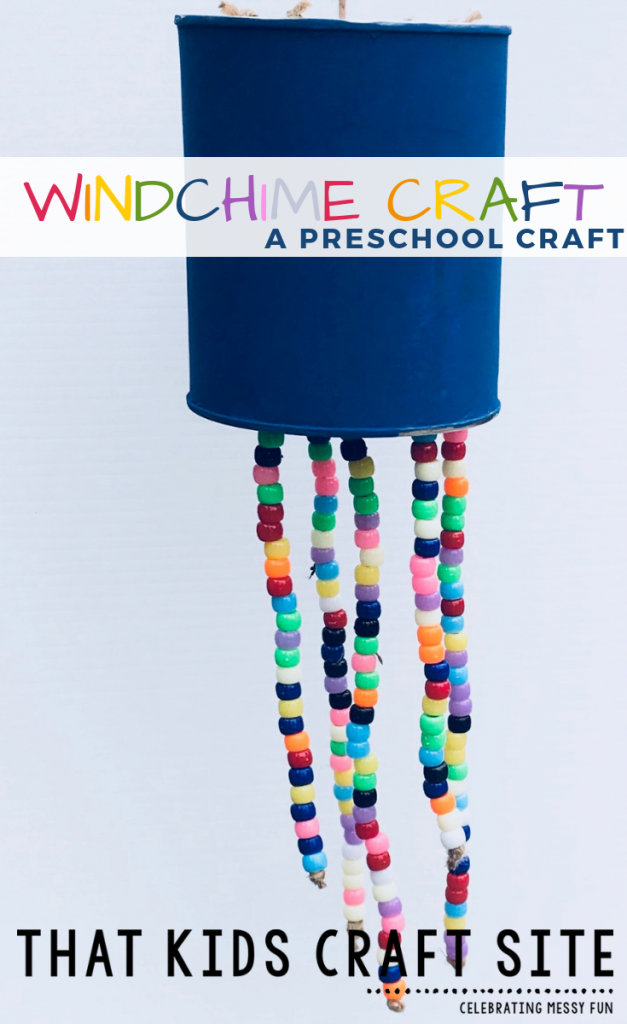Make Your Own Windchime Craft for Kids - an easy Beaded Wind Chime Craft for preschoolers - ThatKidsCraftSite.com