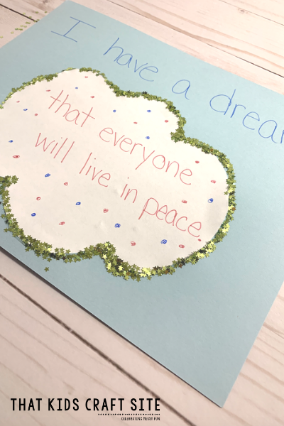 Martin Luther King Jr Crafts - I Have a Dream Cloud Craft for Kids - ThatKidsCraftSite.com