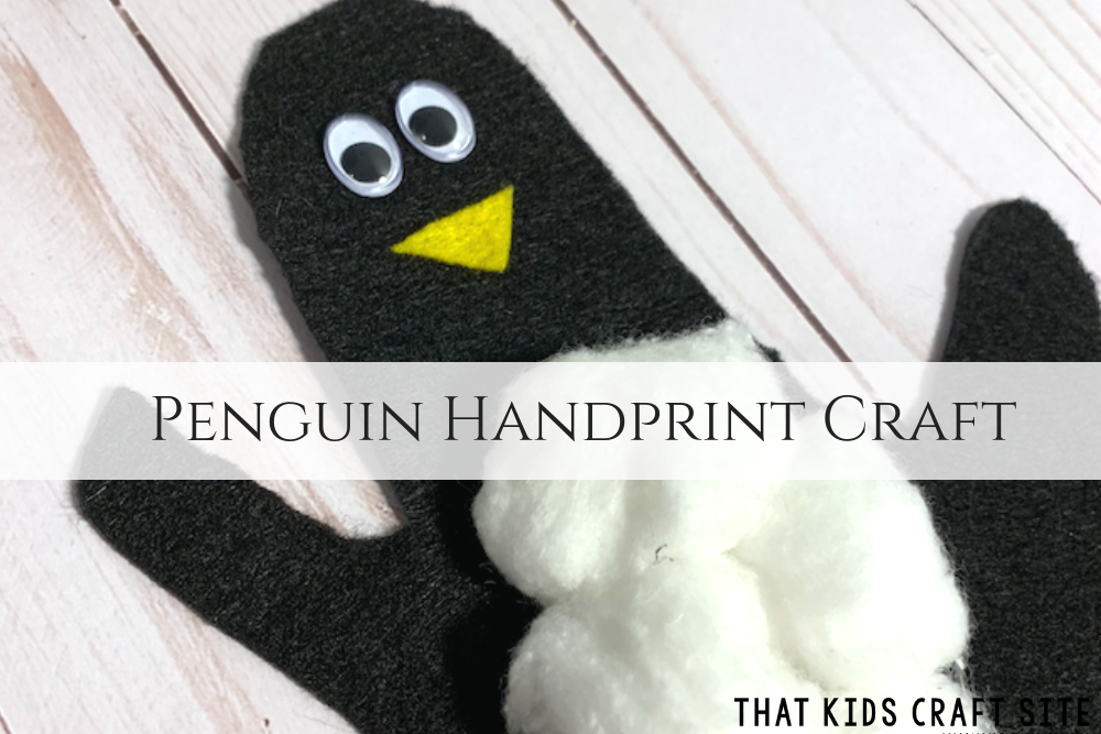 Penguin Handprint Craft - Crafts for Kids - ThatKidsCraftSite.com