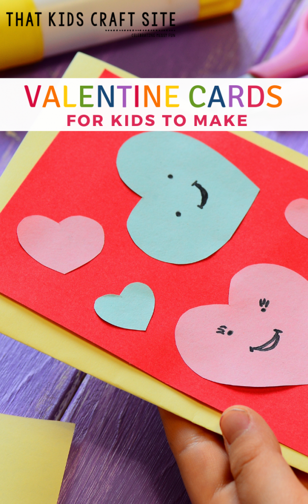 Valentine Cards for Kids - Easy Homemade Valentines Cards for Kids to Make - ThatKidsCraftSite.com