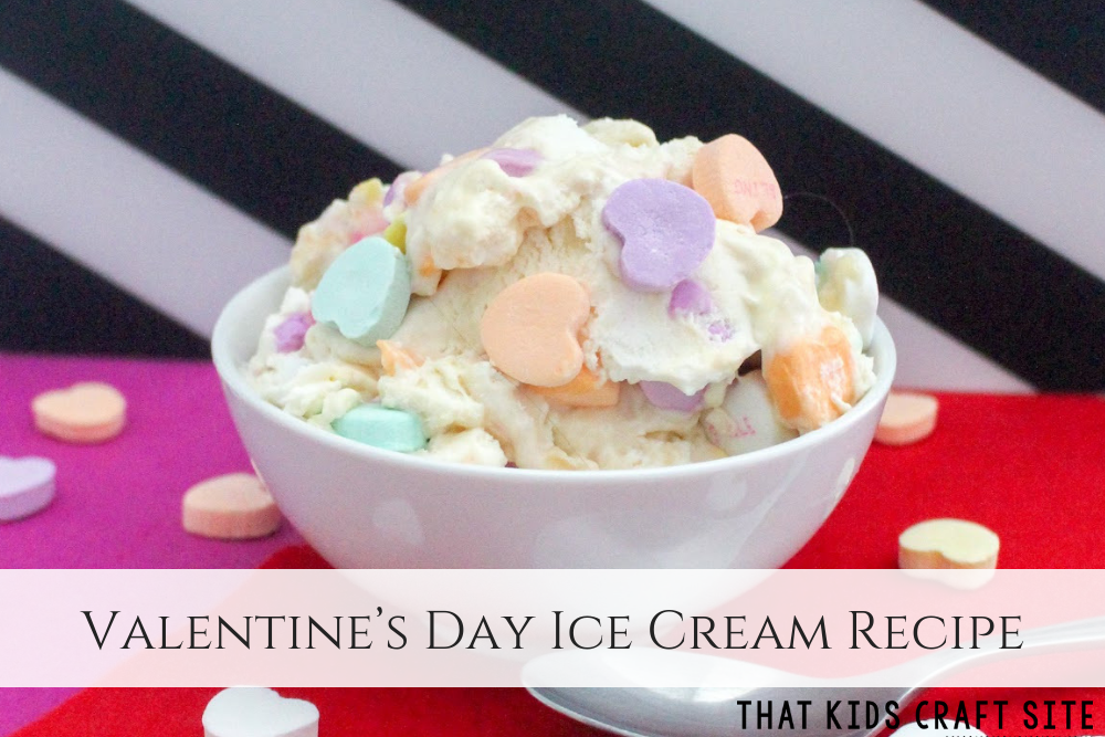 Valentine's Day Homemade Ice Cream Recipe - That Kids Craft Site